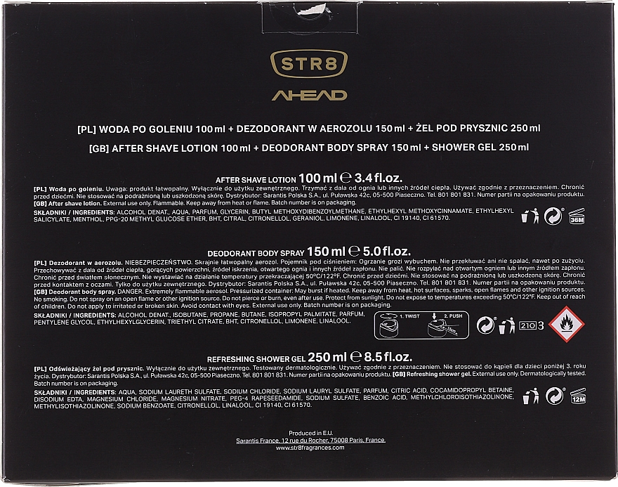 STR8 Ahead - Set (ash/lot/100ml + deo/150ml + sh/gel/250ml) — Imagine N6