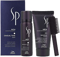 Parfumuri și produse cosmetice Set - Wella SP Men Gradual Tone Black (hair/mousse/60ml+shmp/30ml)