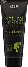 "Parfumuri și produse cosmetice Șampon ""Macadamia"" - Avebio Natural Shampoo For Thin And Delicate Hair"