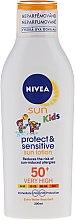 Loțiune de protecție solară pentru copii - Nivea Sun Kids Protect & Sensitive SPF50+ — Imagine N1