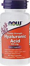 Parfumuri și produse cosmetice Supliment nutritiv - Now Foods Hyaluronic Acid 100 mg