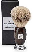Parfumuri și produse cosmetice Pămătuf de ras - Barberians. Shaving Brush Silver Tip