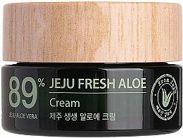 Parfumuri și produse cosmetice Cremă hidratantă revigorantă cu suc de aloe vera 89% - The Saem Jeju Fresh Aloe Cream