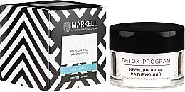 Parfumuri și produse cosmetice Cremă matifiantă pentru ten gras și combinat - Markell Cosmetics Detox Program Face Cream
