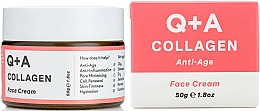 Parfumuri și produse cosmetice Cremă cu colagen pentru față - Q+A Collagen Face Cream