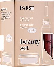 Parfumuri și produse cosmetice Set - Paese (lipstick/2x6ml + f/powder/5.3g)