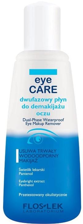 Loțiune demachiantă pentru ochi - Floslek Eye Care Dual-Phase Waterproof Make-Up Remover — Imagine N1