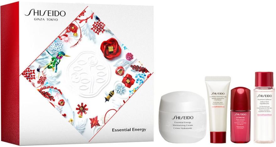 Set - Shiseido Essential Energy Holiday Kit (cr/50ml + foam/15ml + f/lot/15ml + conc/5ml) — Imagine N1