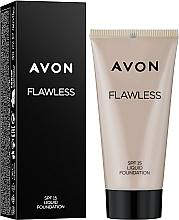 """Parfumuri și produse cosmetice Fond de ten """"Ton impecabil"""" - Avon Flawless Liquid Foundation SPF15"""