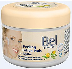 Parfumuri și produse cosmetice Discuri din bumbac cu extract de jojoba - Bel Premium Peeling Lotion Jojoba Pads