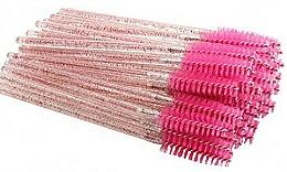 Parfumuri și produse cosmetice Perii de unică folosință pentru gene și sprâncene, roz aprins - Deni Carte