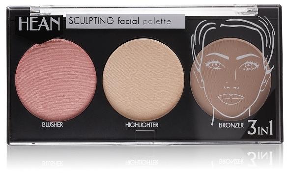 Paletă pentru conturarea feţei 3 culori - Hean Paletka Sculpting