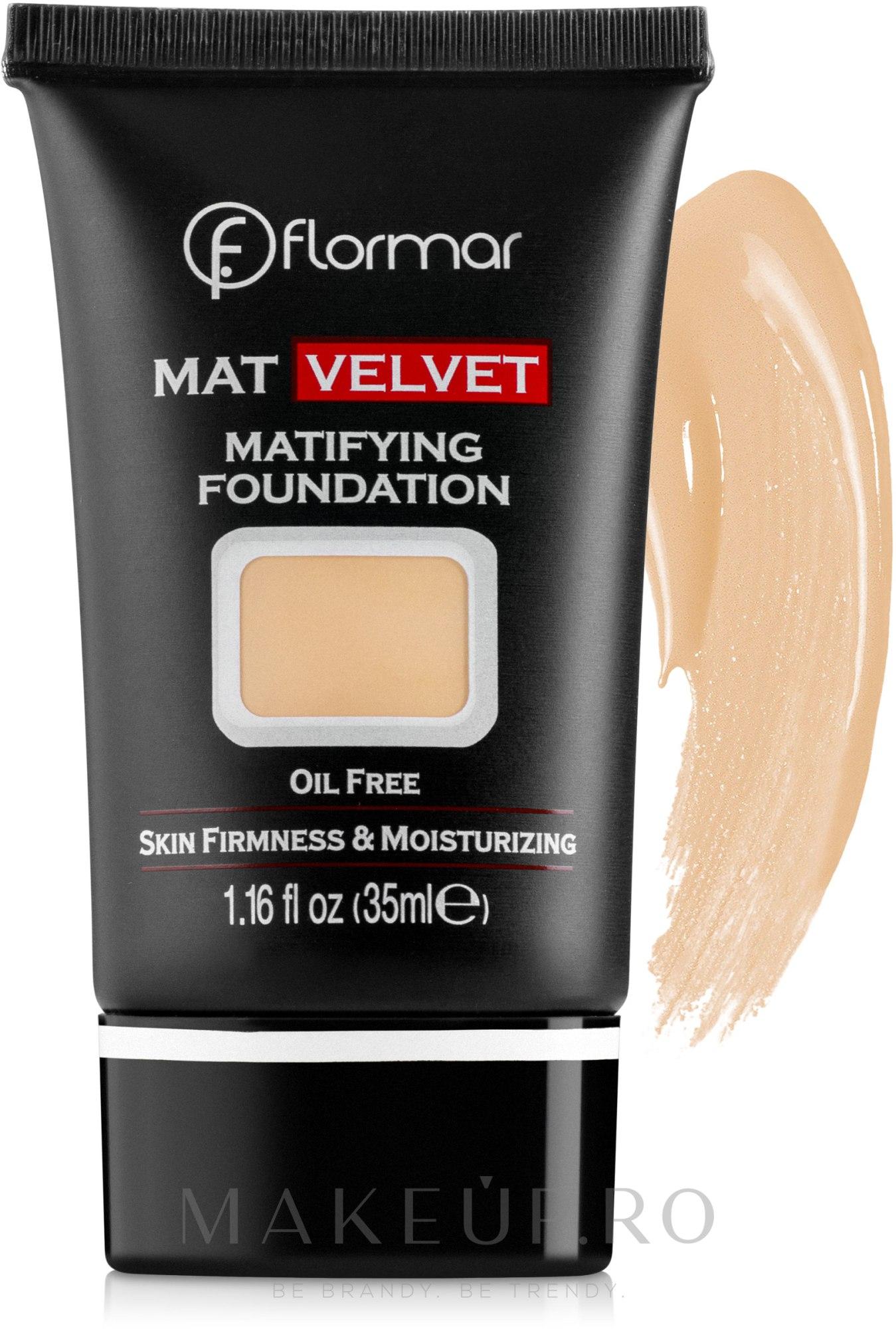 Fond de ten - Flormar Mat Velvet Matifying Foundation — Imagine 207