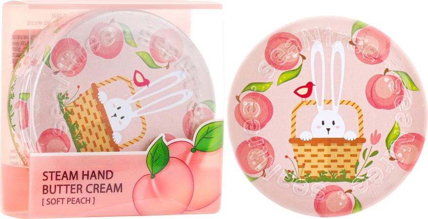 "Cremă de mâini ""Caise"" - SeaNtree Steam Hand Butter Cream Soft Peach Bunny — Imagine N1"