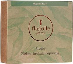 """Parfumuri și produse cosmetice Săpun natural pentru mâini și corp """"Ceai verde și Opuntia"""" - Flagolie by Paese Green Tea & Prickly Pear"""