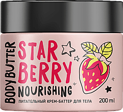 """Parfumuri și produse cosmetice Cremă-unt nutritivă """"Căpșună"""" pentru corp - MonoLove Bio Star Berry Body Butter"""