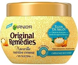 Parfumuri și produse cosmetice Mască de păr - Garnier Original Remedies Nourishing Hair Mask Elixir De Argan