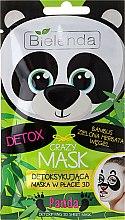 """Parfumuri și produse cosmetice Mască de față """"Panda"""" - Bielenda Crazy Mask 3D Panda"""