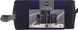 Parfumuri și produse cosmetice Set - Nivea Men Deep Control 2020 (sh/gel/250ml + ash/lot/100ml + foam/200ml + deo/50ml + bag)