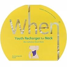 Parfumuri și produse cosmetice Mască de bioceluloză anti-îmbătrânire pentru zona gâtului - When Youth Recharger For Neck Bio-Cellulose Mask