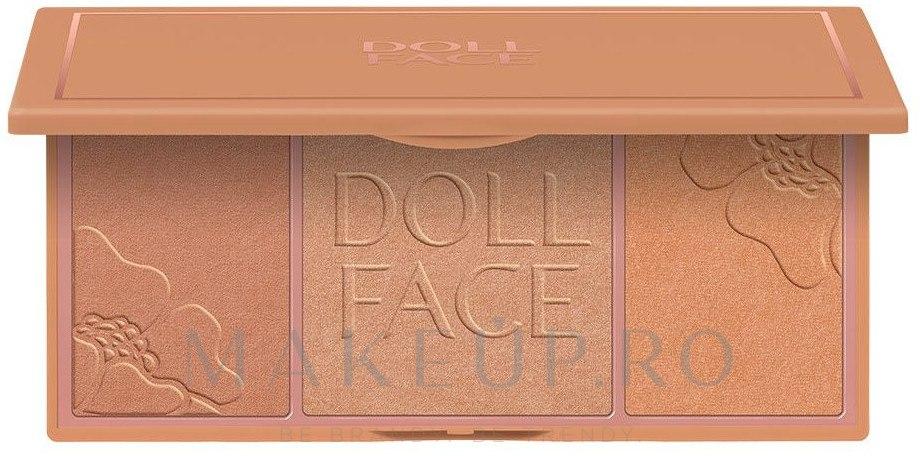 Iluminator - Doll Face Glow Baby Glow Highlighting Palette — Imagine Beach Bunny Bronze
