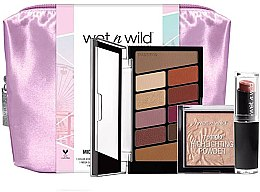 Set - Wet N Wild Midnight Goddess Collection (eyesh/palette/8.5g + powder/9g + lipstick/3.3g + bag) — Imagine N1
