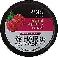 Parfumuri și produse cosmetice Mască de păr - Organic Shop Raspberry & Acai Hair Mask