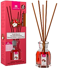 "Parfumuri și produse cosmetice Difuzor aromatic ""Scorțișoară și Măr"" - Cristalinas Reed Diffuser"