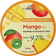 Parfumuri și produse cosmetice Gel calmant luminos și hidratant cu mango pentru față și corp - The Ebbn Illuminating And Moisture Mango Soothing Gel