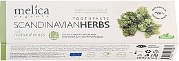 """Parfumuri și produse cosmetice Pastă de dinți """"Ierburi vindecătoare Scandinave"""" - Melica Organic Toothpaste Scandinavian Herbs With Iceland Moss Extract"""