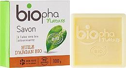 Parfumuri și produse cosmetice Săpun natural cu ulei de argan - Biopha Organic Soap Organic Argan Oil
