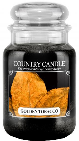 Lumânare aromată (borcan) - Country Candle Golden Tobacco — Imagine N1