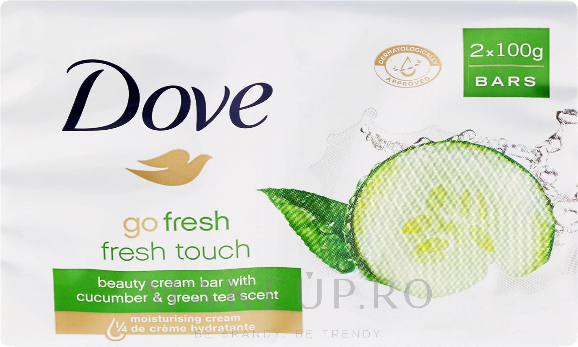 Săpun-cremă de corp - Dove Go Fresh Cream Bar With Cucumber & Green Tea Scent — Imagine 2x100 g