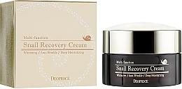 Parfumuri și produse cosmetice Cremă revitalizantă cu mucină de melc pentru față - Deoproce Snail Recovery Cream