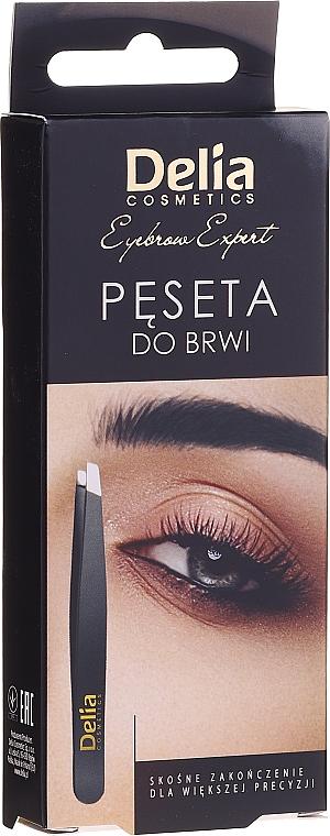 Pensetă pentru sprâncene - Delia Cosmetics Eyebrow Expert
