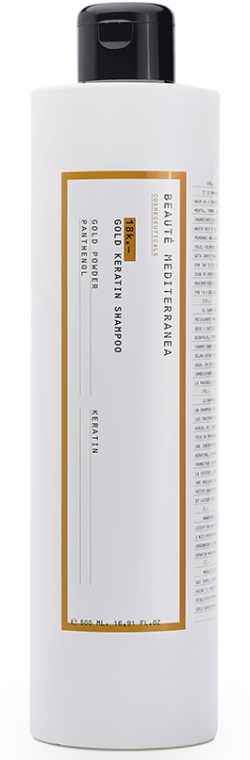 Șampon cu particule de aur - Beaute Mediterranea 18K Gold Keratine Shampoo — Imagine N1