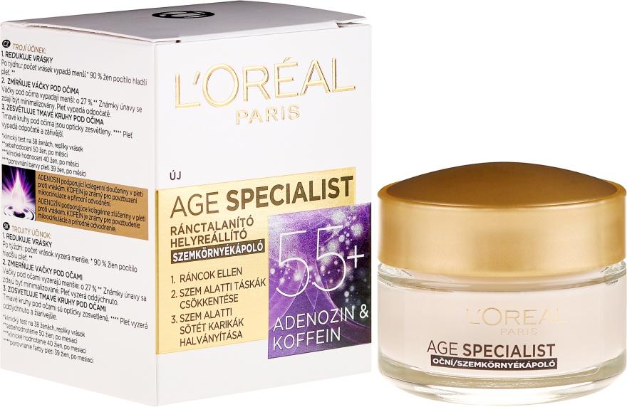 Cremă pentru conturul ochilor - L'Oreal Paris Age Specialist Eye Wrinkle Cream 55+
