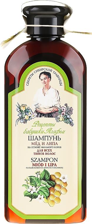 "Șampon ""Miere și tei"" - Reţete bunicii Agafia"