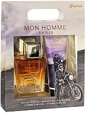 Parfumuri și produse cosmetice Omerta Paris Mon Homme - Set (edt/100ml + sh/gel/100ml)