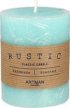 Parfumuri și produse cosmetice Lumânare aromată, 7x14 cm, turcoaz - Artman Rustic