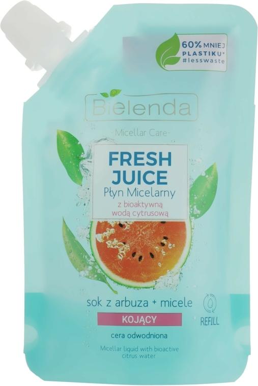 "Apă micelară ""Pepene verde"" - Bielenda Fresh Juice Detoxifying Face Micellar Water Watermelon"
