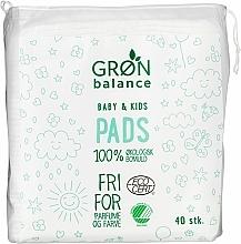 Parfumuri și produse cosmetice Discuri din bumbac, 40 bucăți - Gron Balance Baby & Kids Pads