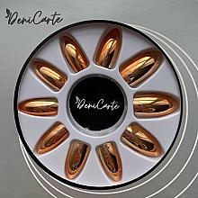 Parfumuri și produse cosmetice Unghii false cu efect de oglindă, 42409, aurii - Deni Carte