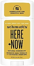 Parfumuri și produse cosmetice Antiperspirant natural - Schmidt's Here +Now Natural Deodorant
