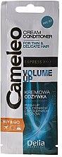 Parfumuri și produse cosmetice Cremă-Condiționer pentru păr - Delia Cameleo Volume Up Cream Conditioner (mostră)