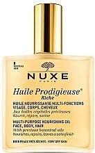Parfumuri și produse cosmetice Ulei uscat nutritiv pentru pielea uscată - Nuxe Huile Prodigieuse Riche Multi-Purpose Oil (tester)
