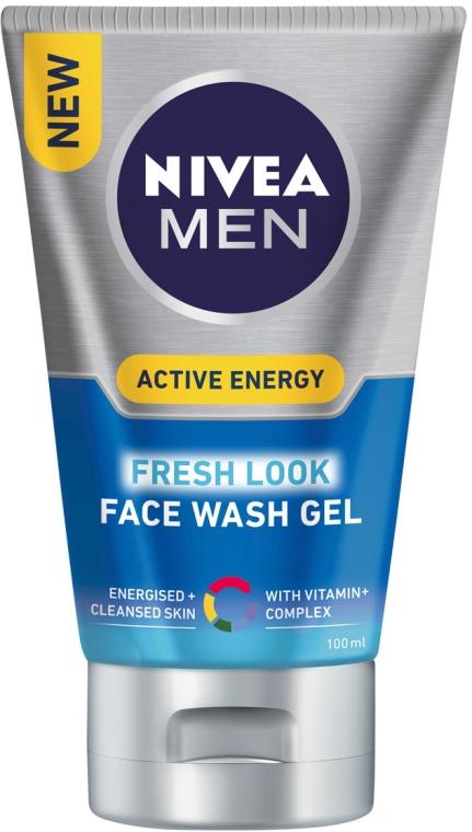 Gel de curățare revigorant - Nivea For Men Face Wash — Imagine N1