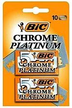 """Parfumuri și produse cosmetice Set lame pentru aparatul de ras """"Chrome Platinum"""", 10buc - Bic"""