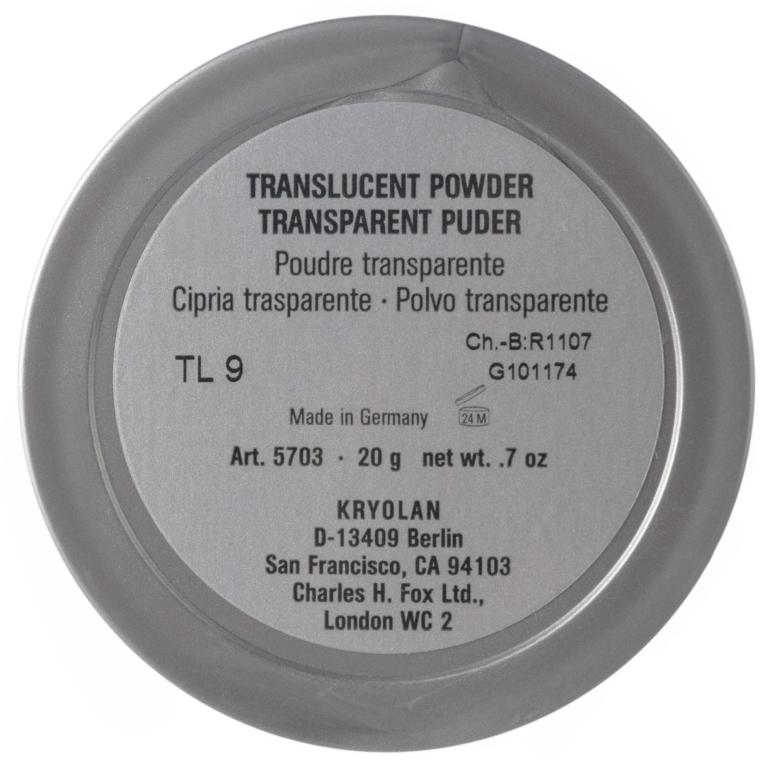 Pudră translucidă fixare machiaj - Kryolan Translucent Powder — Imagine N4