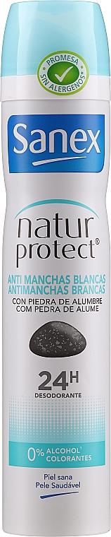 "Deodorant antiperspirant ""Protecție invizibilă"" - Sanex Natur Protect 0% Antimanchas Deo Spray"
